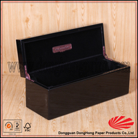 High polished rosegold logo hinges wooden wine boxes used for sale
