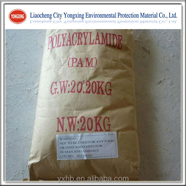 Flocculant agent Polyacrylamide cationic or anionic PAM chemicals