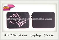 2013 Hot Selling Cute Hello Kitty Neoprene Laptop Sleeve Bag Case for 9-17 inch