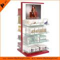 Supermercado multi-camadas MDF madeira cosméticos indicação do contador