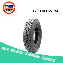 12.00R24 all steel radial truck bus tyres from China factory