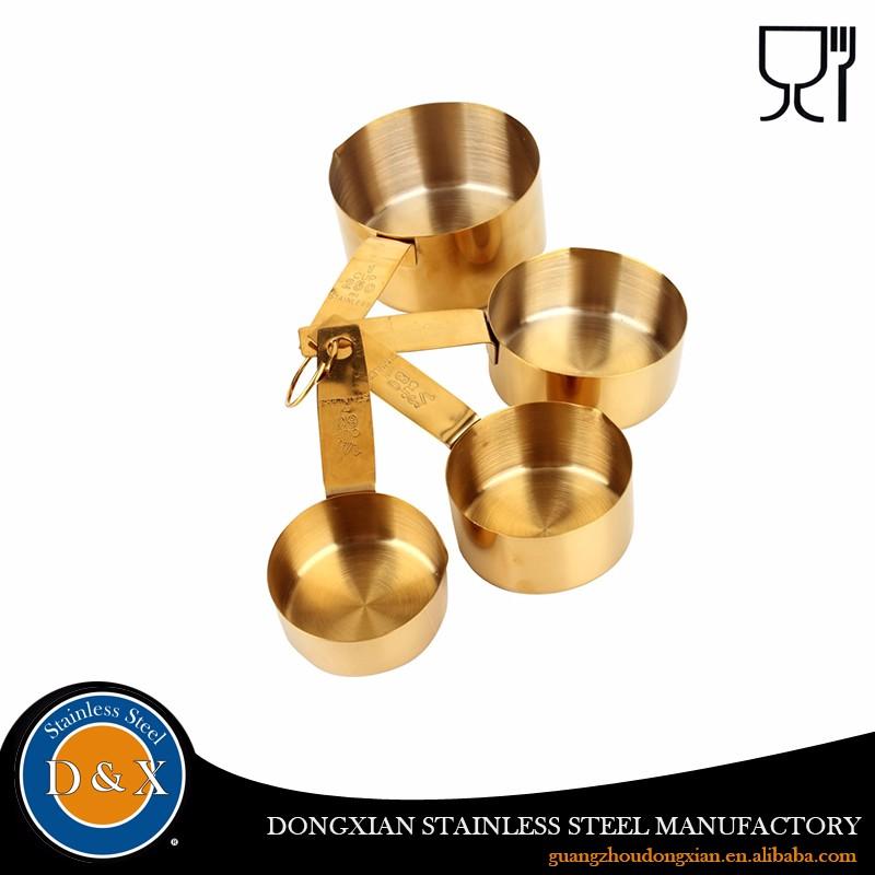 Ouro prata cobre elefante aço inoxidável colher conjunto de copos de medição