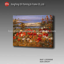 wall picture for restaurant handmade garden flower landscape oil painting on canvas