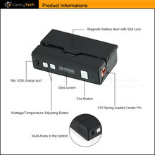 2015 most popular ecig box mod TC temperature control mod 60w vape mods cheap e-cig mod kamry TC 60w 200F-600F