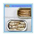 Todo tipo de 125gs enlatados sardina de pescado en aceite vegetal ( ZNSVO0030 )