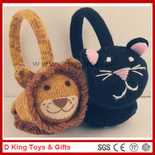 Knitted Lion Earmuff Knitted Cat Earmuffs Knitted Animal Earmuffs