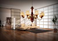 retro style oak rustic glass chandelier