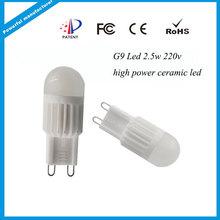 2.5w led g9 light bulb AC220-240V, led bulb lamp g9