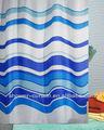 cortina de tejido de poliéster de impresa de raya