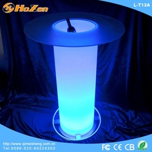 Supply all kinds of red LED table wine,dining LED table black lacquer