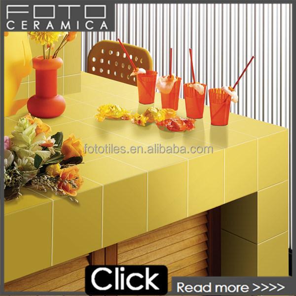Citron Jaune carrelage moderne cuisine conception mur carreaux