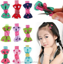Butterfly bowknot Bow Snaps Hair Clips Slides Girls Kids Baby Accessories Fashion Polka Dot