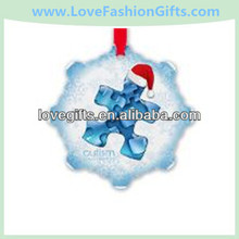 Personalized Autism Snowflake Ornaments