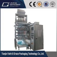 DXD-150 rice/sweets/shampoo muti-lines four sealing automatic packaging machine