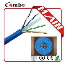 1000FT UTP/FTP/SFTP CMP 550Mhz soild bare copper 0.57mm cat 6 cable specifications