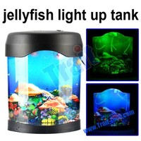 Jellyfish, LED Light fish tank ,beatiful aquarium