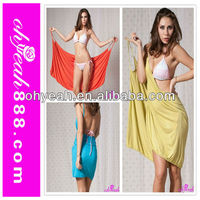 2014 The newest good quality colorful ladies sexy beach dress beach cover up