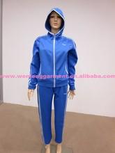 personalizado tejido sano desgaste de los deportes azul con cremallera baratos a medida de prendas deportivas
