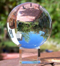 Clear Crystal Acrylic Ball Globe with Free Crystal Stand