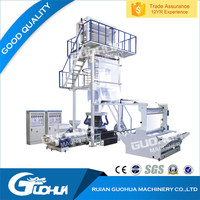 Two Layers blown film extrusion machine PE film blowing machine plastic film extrusion