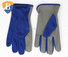 Blue spandex back micro fiber working glove driver glove