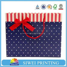 2015 cheap custom printed Small paper shopping bag for garment