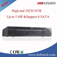 hikvision nvr 32ch upto 5MP high-end nvr project nvr support 8sata interface