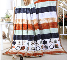 100 polyester fluffy Baby blanket fleece blanket knitted blanket circle pattern