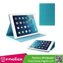 Best Selling Two Fold Stand Leather Case with Smart Wake Sleep for iPad Air