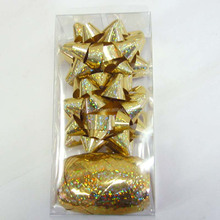 Glitter Gold Star Ribbon Bow and Ribbon Egg Metallic for Gift Wrapping and Decoration Christmas/Easter/New Year