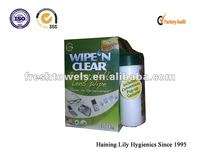 100% biodegradable lens clean wet wipes
