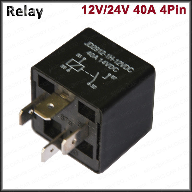 Automotive Relay 12v 40a Wiring Diagram : Auto relay v a vdc pin view