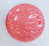 wholesale paper products red polka dot patterned paper plates