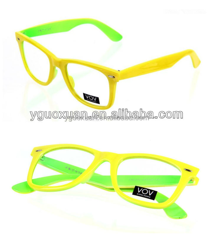 Fluorescent Green Eyeglasses Frames 5166 - Buy Yellow ...
