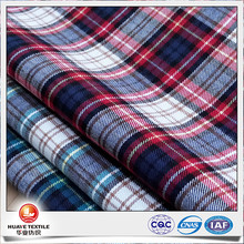 wholesale plaid cotton flannel fabric for dress shirt WITH FREE SAMPLE