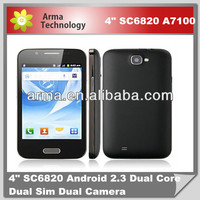 Professional 4 inch Cheap phone Android 4.0 Feiteng A7100 Dual sim