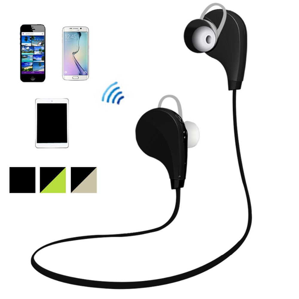 neckband bluetooth stereo headphones wireless sports in ear bluetooth earbuds headsets 2015. Black Bedroom Furniture Sets. Home Design Ideas