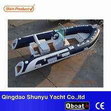 Korea PVC material best double fiberglass hull rib470A boat for sale