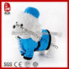 Sedex BSCI factory stuffed white poodle plush musical dog toy