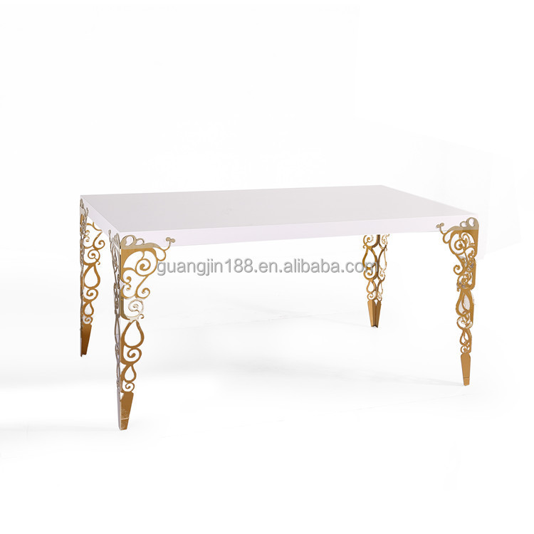 Modern Polished Stainless Steel Dining Tables