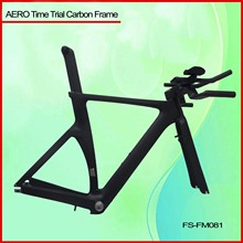 2014 hot selling fixed gear time trial carbon frame,carbon triathlon bike frame,Chinese carbon frame tt bike FM081
