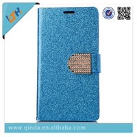 QinD bling pu leather case for Samsung galaxy s3 mini