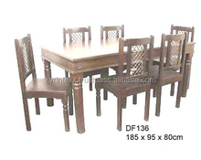 plastic dining table and chair