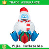150cm tall inflatable abominable snowman with giftbox for christmas decoration