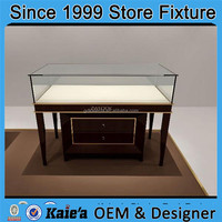 New arrival 2015 used jewelry glass display cases