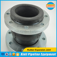 Single ball rubber expansion joints for pipelines