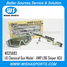 Oferta especial para 1:6 classical metal brinquedos pistola modelo série- awp l96 atirador arma de brinquedo rifles em acu