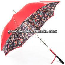 Red aluminum stick straight umbrella/business giveaway umbrella