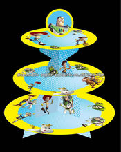 Toy Story Cupcake Stand, Buzz Woody Andy Party Treat Stand 3 tier cardboard Treat Cupcake Stand Holder Tower Tree