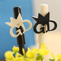 Best selling wholesales school stationery free samples gel pen cute style black and white test good gel ink pen